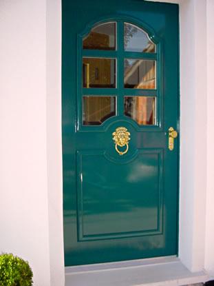 Haustür holz grün  Schreinerei Kramer Referenzen Türen